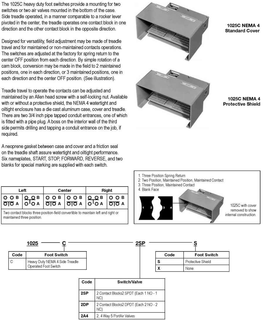 Products Press Safety Products1025 Spdt Switch Wiring Diagram Foot 1025c And Palm Replacement Parts
